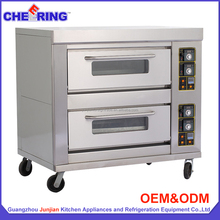 Bakery Equipment JunJian Gas/Electric 2-Layer 4-Trays Brick Pizza Oven