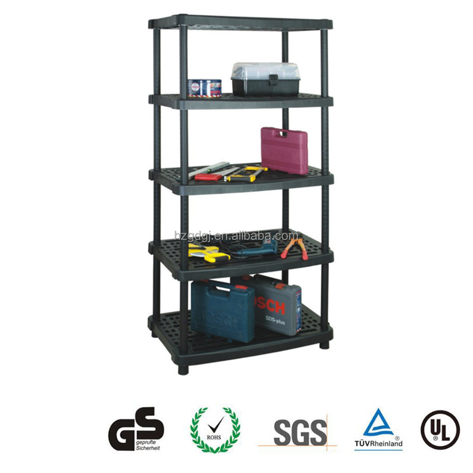 GD3177 5 Units strong plastic storage rack warehouse supermarket shelf