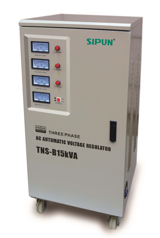 15000VA Three phase AC automatic voltage regulator 15kVA servo motor voltage stabilizer
