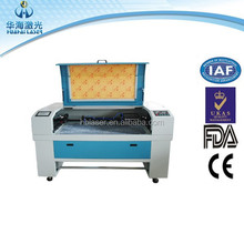 Huahai laser 24x15 inch entry level small 6040 CO2 laser cutter with dust exhaust system
