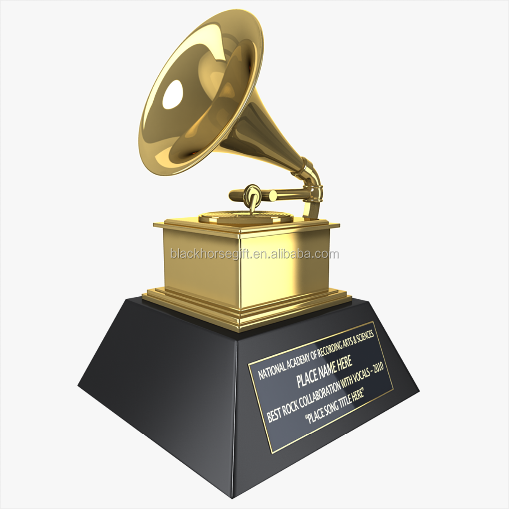 Customized replica grammy award trophy/grammy trophy