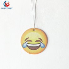 face emoticons paper car air freshener with low quantity accepted