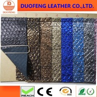 snake skin PU man-made leather for shoe or bag