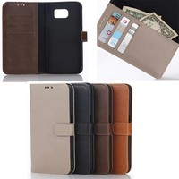 High quality retro Leather Wallet Case for Samsung S8 With Stand function