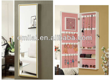 wedding gift, wall mount mirror jewelry cabinet