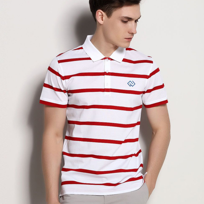 Cheap trendy mens polo collar striped t shirt buy mens for Cheap polo collar shirts