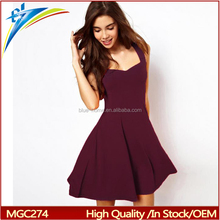 2017 spring summer new fashion Women lady clothing sleeveless ball gown dress