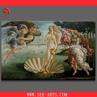 copy oil painting of fairy, world's famous painting, Botticellis Birth of Venus