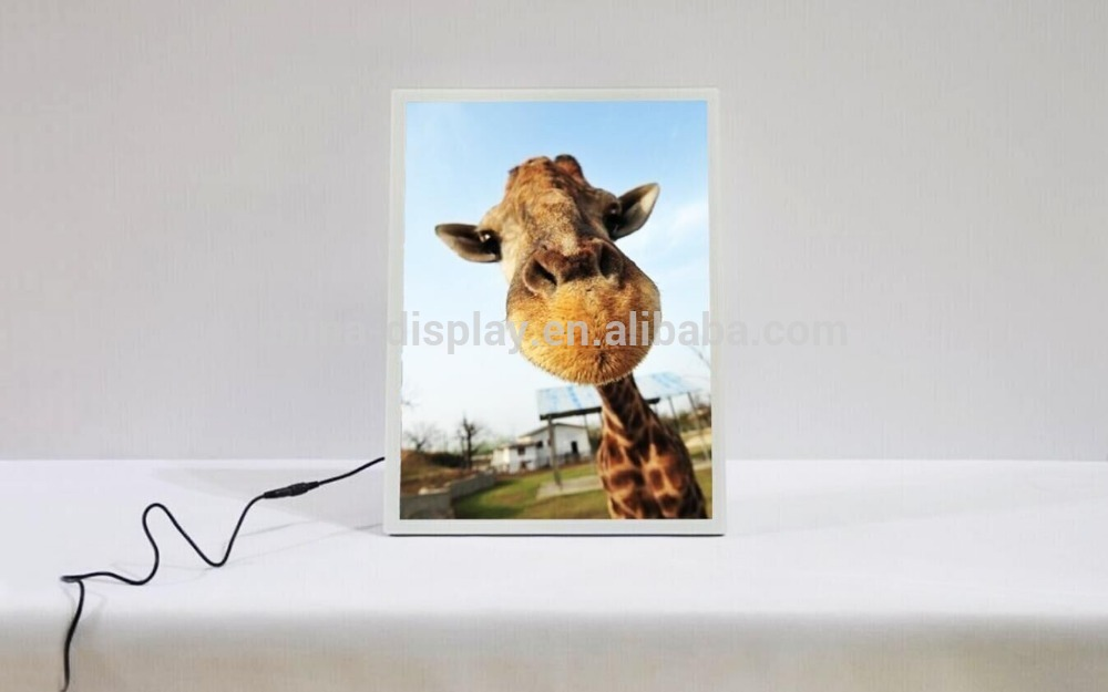 Magnetic LED Mini Acrylic Standing Photo Frame Advertising Display