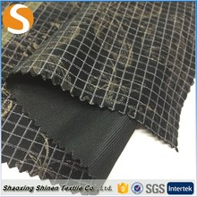 Low price of 100% polyester flocked foil woven fabric for garment
