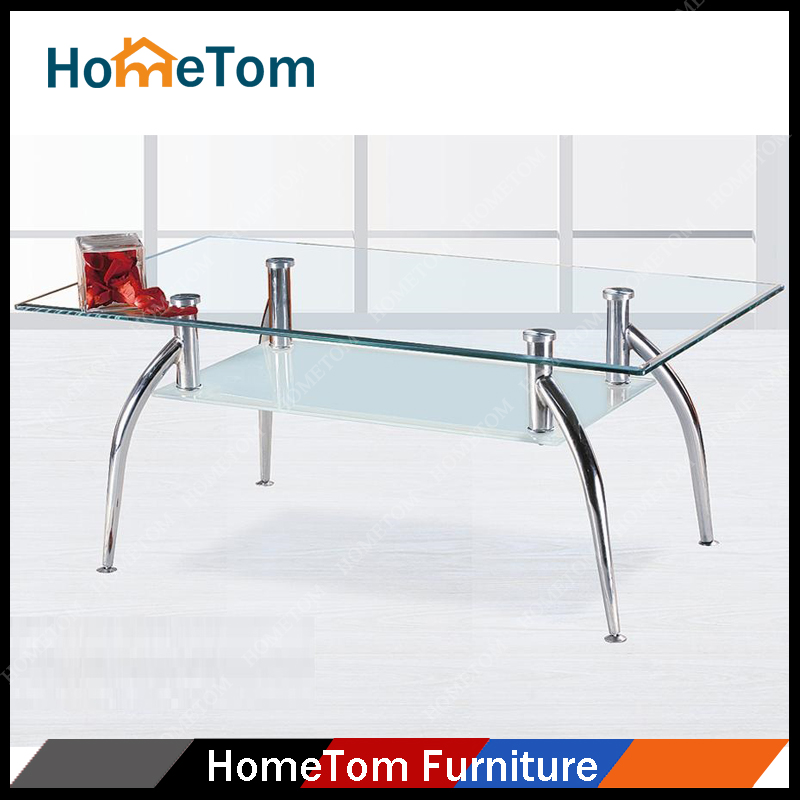 Home Furniture Cheap High Quality Modern Glass Industrial Coffee Table for Sale