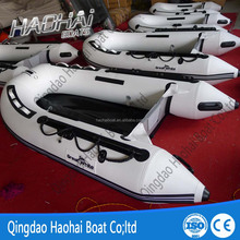 300cm 4 persons plywood floor pvc rowing boat for sale