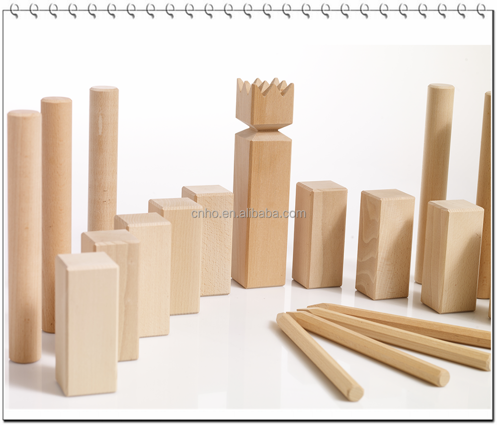 customized outdoor family game kubb set kubb game