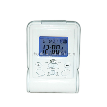 2014 New LCD Folding Travel Digital Temperature Calendar Alarm Clock