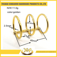 Wholesale file folder accessories wire 2.5mm ID25.4mm Golden 3 hole binding ring clip for calendar