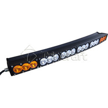 180w amber led light bar 30inch dual color curevd led bar amber white combo spot flood for jee p
