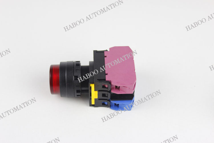 22mm momentary / on-off push button switches high circular head LED push button switches 6V 12V 24V 110V 220V