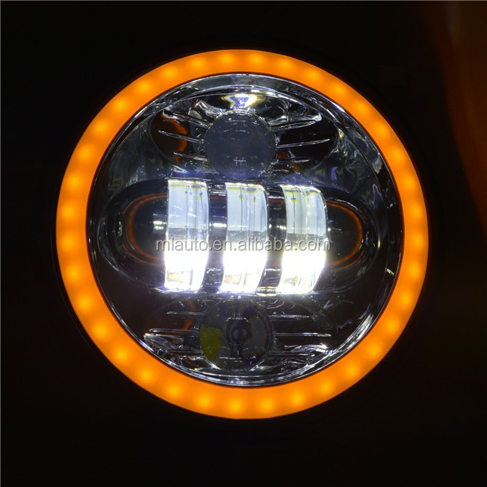 5.75inch 50w motorcycle headlight DRL&Turning light spot flood Beam 4000LM led car glass headlamp bulb