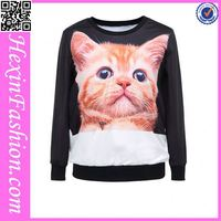3D cute cat cartoon hooded sweatshirt in stock