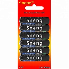 Sneng AAA 6PCS/Pack Carbon Zinc Dry Batteries UM4 UM-4 AM4 R03P MN2400 E92 1.5V Heavy Duty Battery