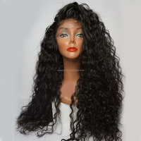 Wholesale Wig From China Cheap Long Brazilian Remy Human Hair 180% Density Lace Front Wig for Black Women