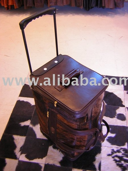 Hair-On Cowhide Trolley Bag