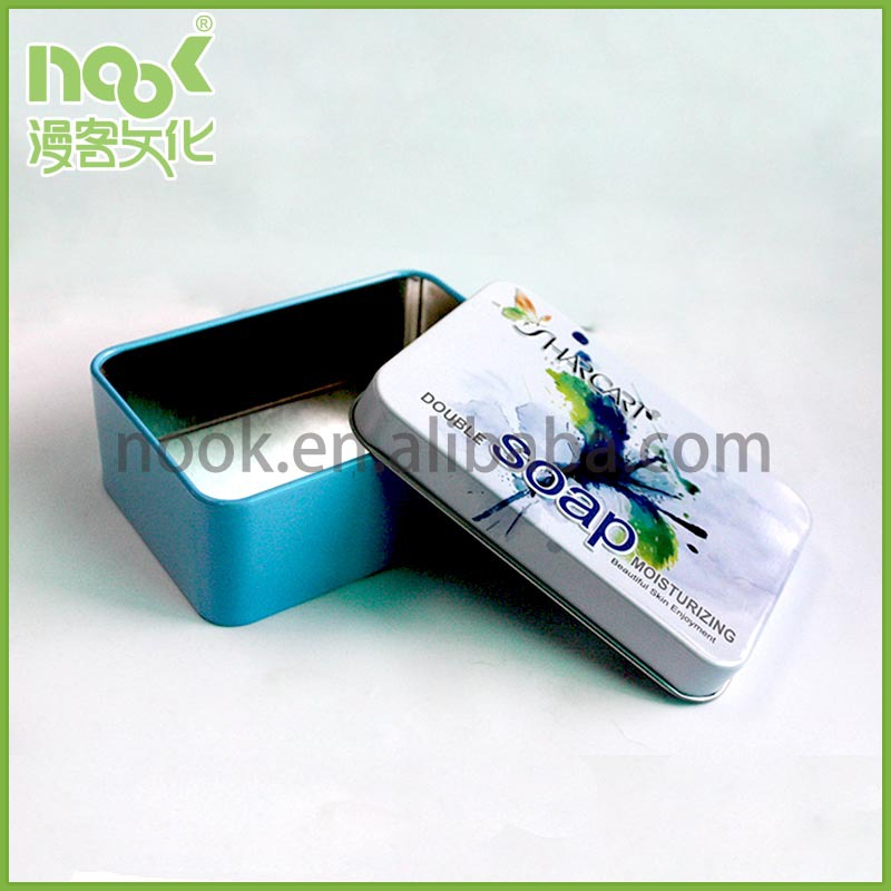 Tinplate Box Packaging/Small Retail Box Packaging/Metal Soap Tin Box