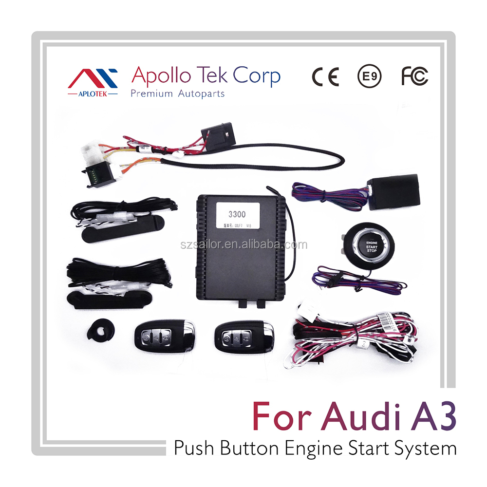 GPS/GSM car alarm remote engine start stop for Audi A3 2014