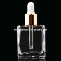 Cosmetic Essential Oil Square Glass Dropper Bottle For Electronic Cigarette Liquid