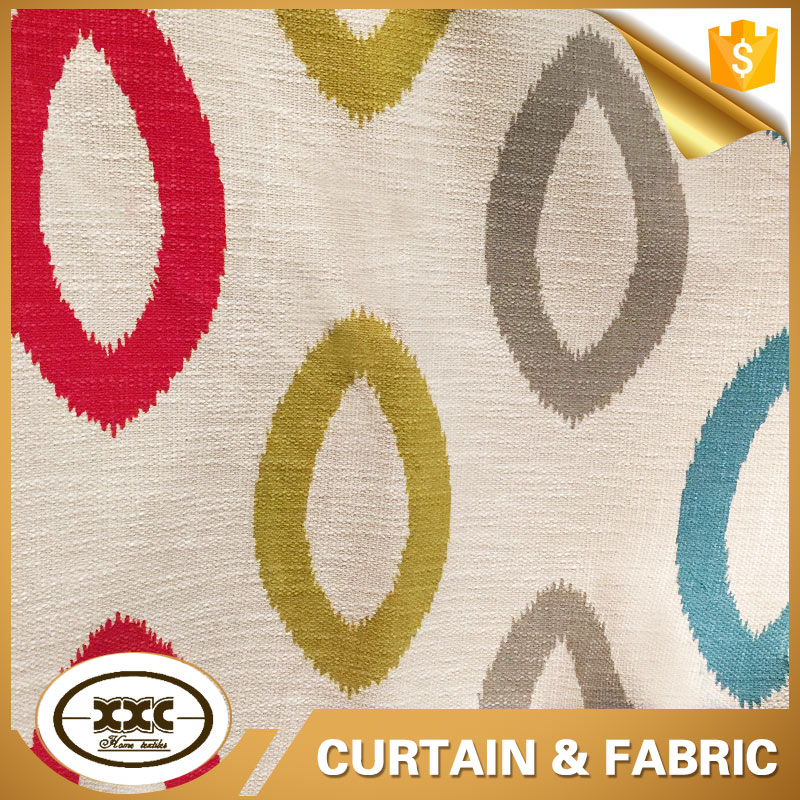 colorful printed modern italian curtains fabric