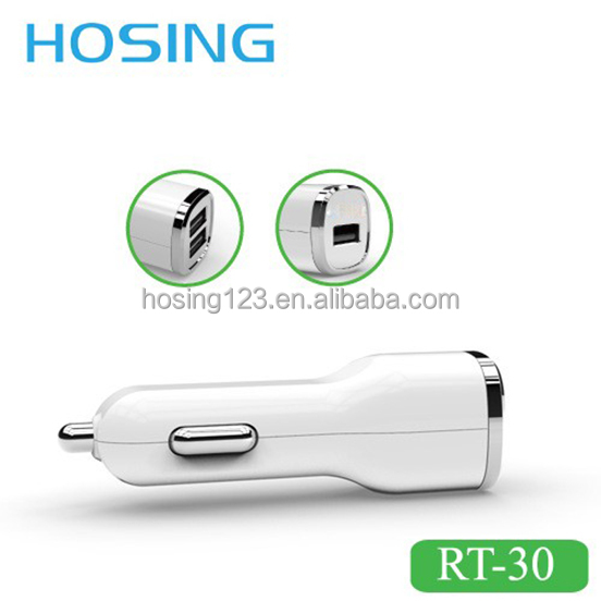 Chinese Factory Price Hot Sell Car Charger adapter with dual USB Port Monile Phone USB charging Car charger