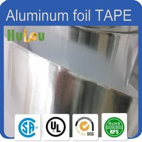 Custom size fireproof no curl aluminum foil tape