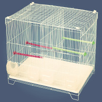 Folding iron wire bird cages with two doors