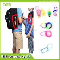 2017 big promotional fancy cute easy carry 100% medical popular custom hand sanitizer silicone holder