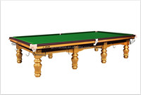 2015 Hot Design Full Solid Wood pool table Snooker Table with steel block