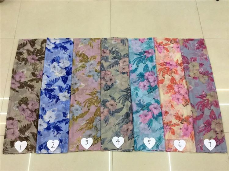 Fast delivery custom design voile comfortable print scarf pashmina