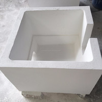 Service supremacy filter box for aluminum molten has a high alumina pre-fabricated ling