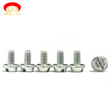 Wholesale M8 Binding Washer Head Machine Screw Steel Slotted Color Galvanized Plating With Washer Attached