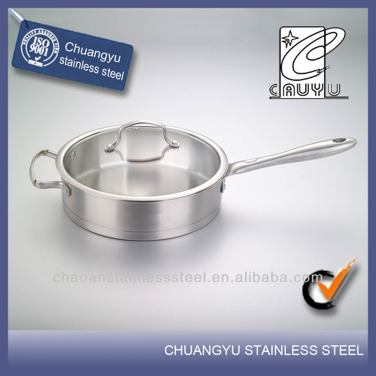 New product stainless steel air frying pan