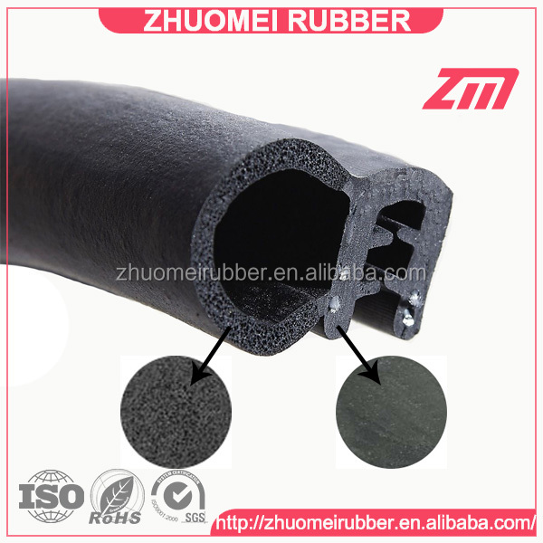 Car Door Bonnet Rubber Edge Trim Seal with metal