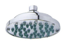 6-Inch Fixed Mount High Pressure Chrome Rainfall Shower Head with Swivel Ball Joint, Rubber Jets