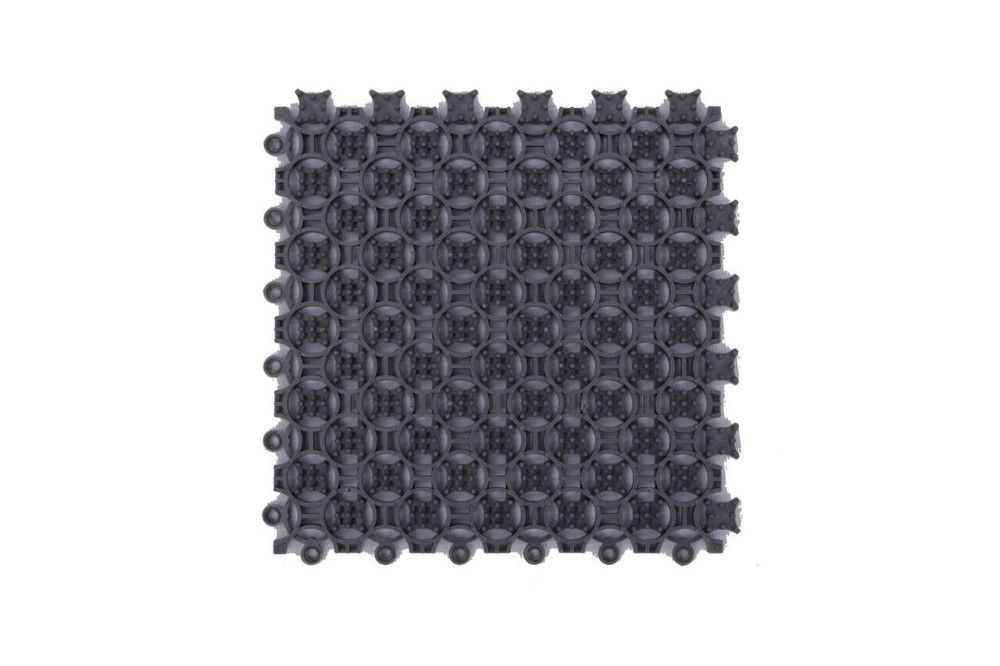 Module black PVC non slip bath door mat