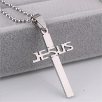 Yiwu Aceon Stainless Steel Jewelry Factory Stock List Cheap Laser Cut Jesus Pendant