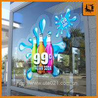 Custom pvc car window sticker custom made static cling decals stickers printed waterproof decals