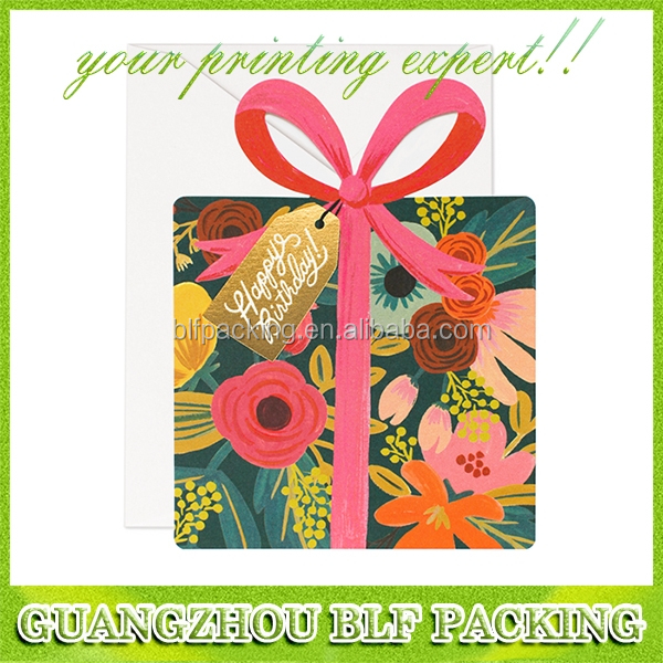 (BLF-GC016) special design creative present shape birthday card