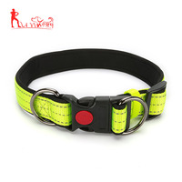 Reflective Nylon Dog Collar Adjustable Dogs Collars For Small Medium Large Pet With Safety Plastic Buckle