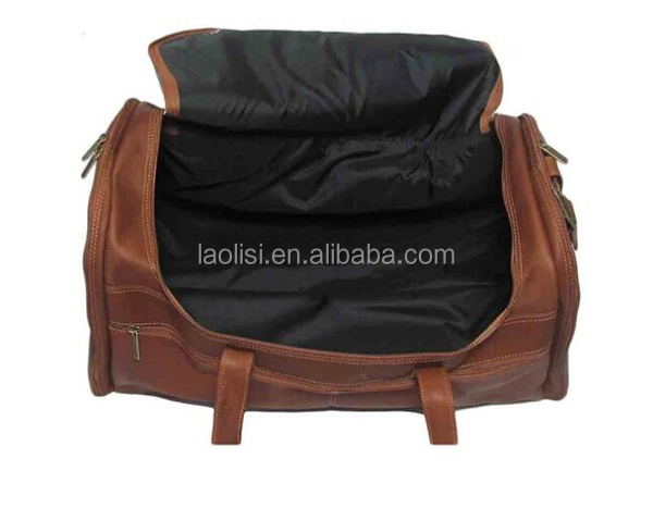 Alibaba china supplier vintage leather duffel bag genuine leather travel bags