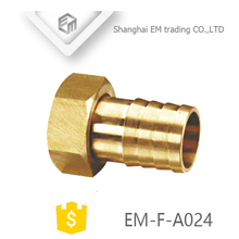 EM-F-A024 Female Brass hose barb connector coupler Pagoda head pipe fitting