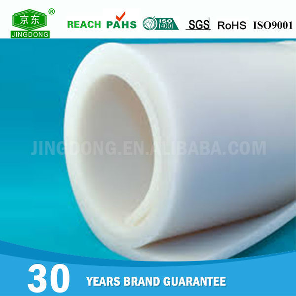 China manufacture professional white rubber sheet roll