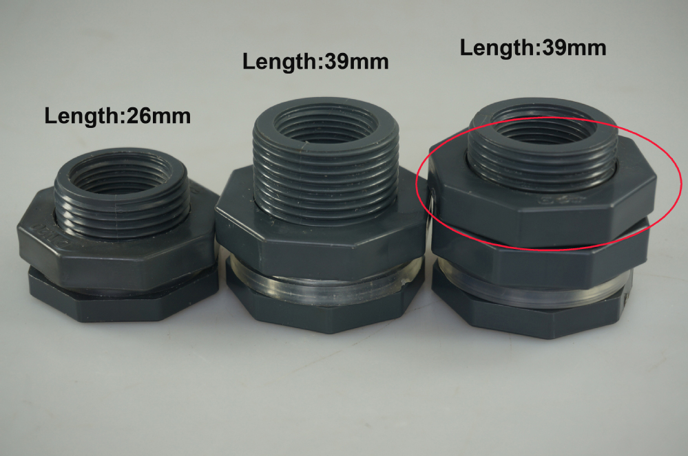 Chinese plastic reasonable price male bulkhead fitting
